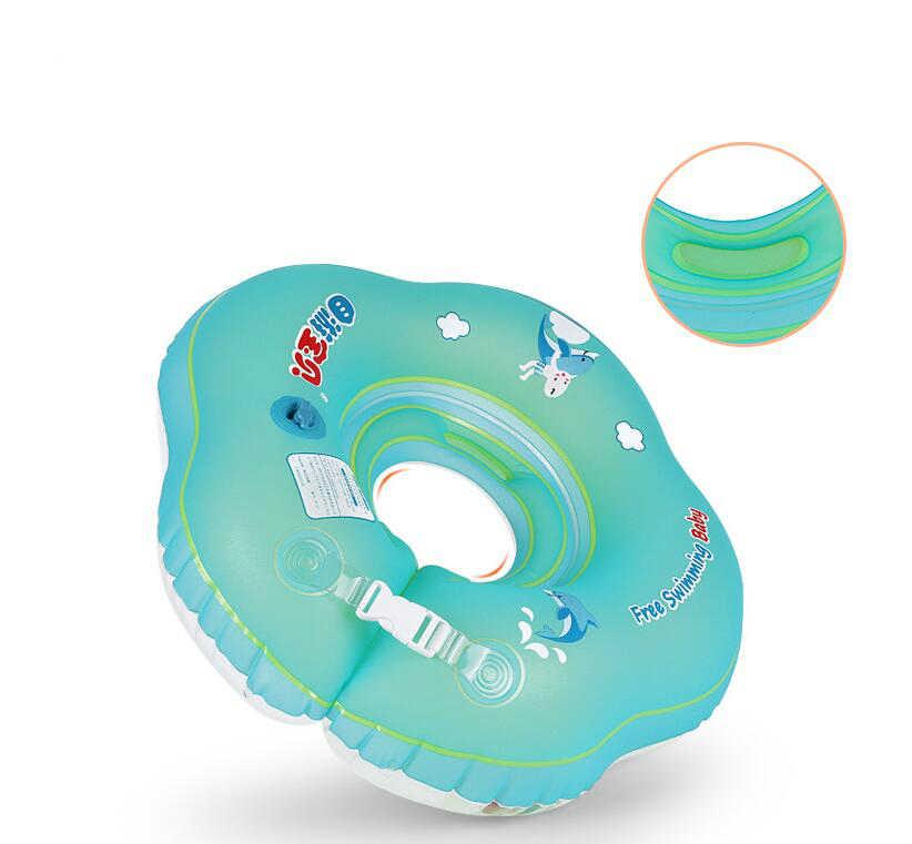 Bé Bơi Bơi Cổ Nổi Vòng Inflatable Ống Có Thể Điều Chỉnh An Toàn Trợ Vòng Tròn Cho Tắm Inflatable