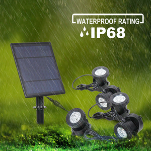 Image 5 - T SUNRISE LED Solar Powered Lamp Outdoor RGB Color Changing Solar Spotlight IP68 Waterproof Solar Light Landscaping for Garden