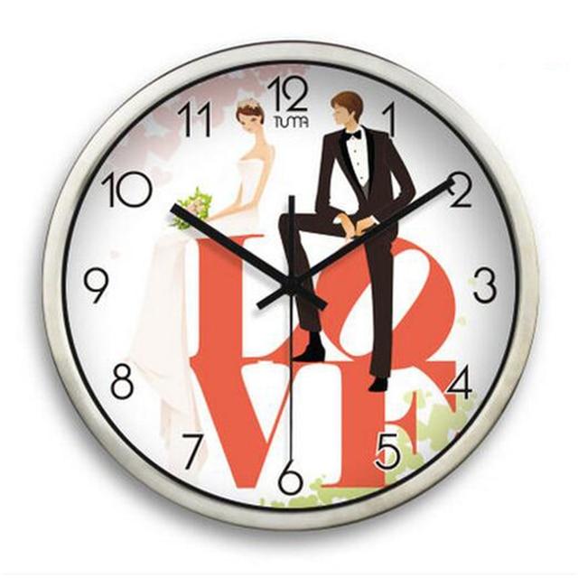 Silent Modern Metal Wall Clock Large Decorative Wall Hanging Clock ...