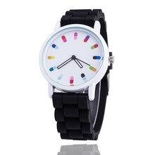 2017 Женщин Силиконовой Лентой Спорт Кварцевые Наручные Часы Мода Повседневная Марка Красочные Кварцевые Часы Montre Роковой Relógio Feminino