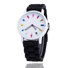 2017 Women Silicone Band Sport Quartz Wrist Watch Fashion Casual Brand Colorful Quartz Watches Montre Femme Relogio Feminino