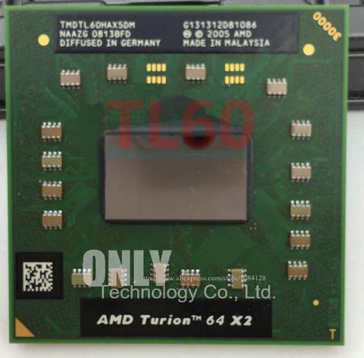 الأصلي AMD cpu محمول توريون TL-60 CPU 1 متر مخبأ/2.0 جيجا هرتز/مقبس S1/ثنائي النواة كمبيوتر محمول معالج tl60 TL 60