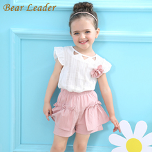 Bear Leader Girls Clothing Sets Summer Style T-shirt+Pink Pants