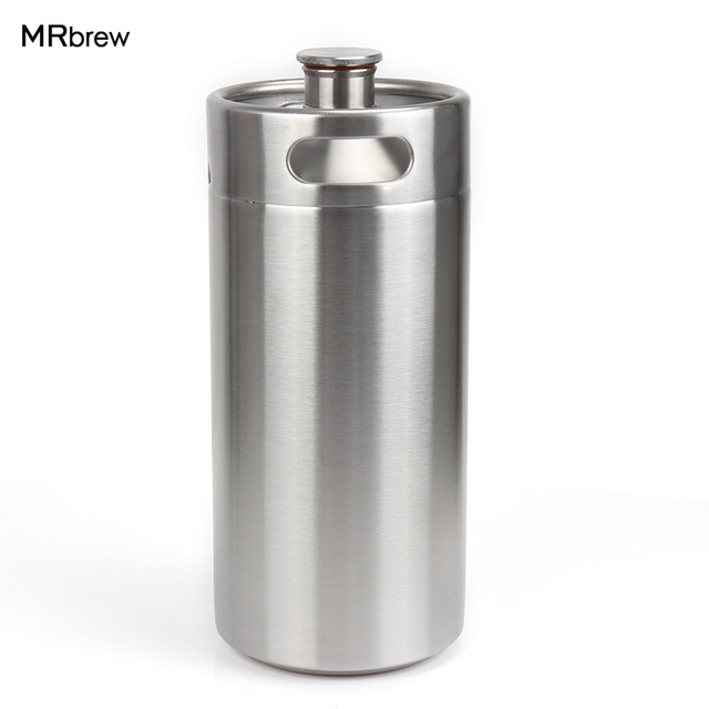 128 oz 3.6L acier inoxydable grogneur-haute qualité 1 Gallon Mini fût Style grogneur incassable Homebrew fût pour bar à bière