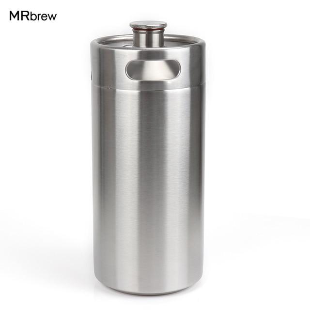 3.6L Stainless mini keg Growler wine pot Stainless Beer Growlers Unbreakable Homebrew keg for beer bar