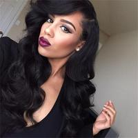 7A Grade Unprocessed Malaysian Body Wave 130% Full Lace Human Hair Wigs/Glueless Full Lace Wigs Virgin Hair For Black Women