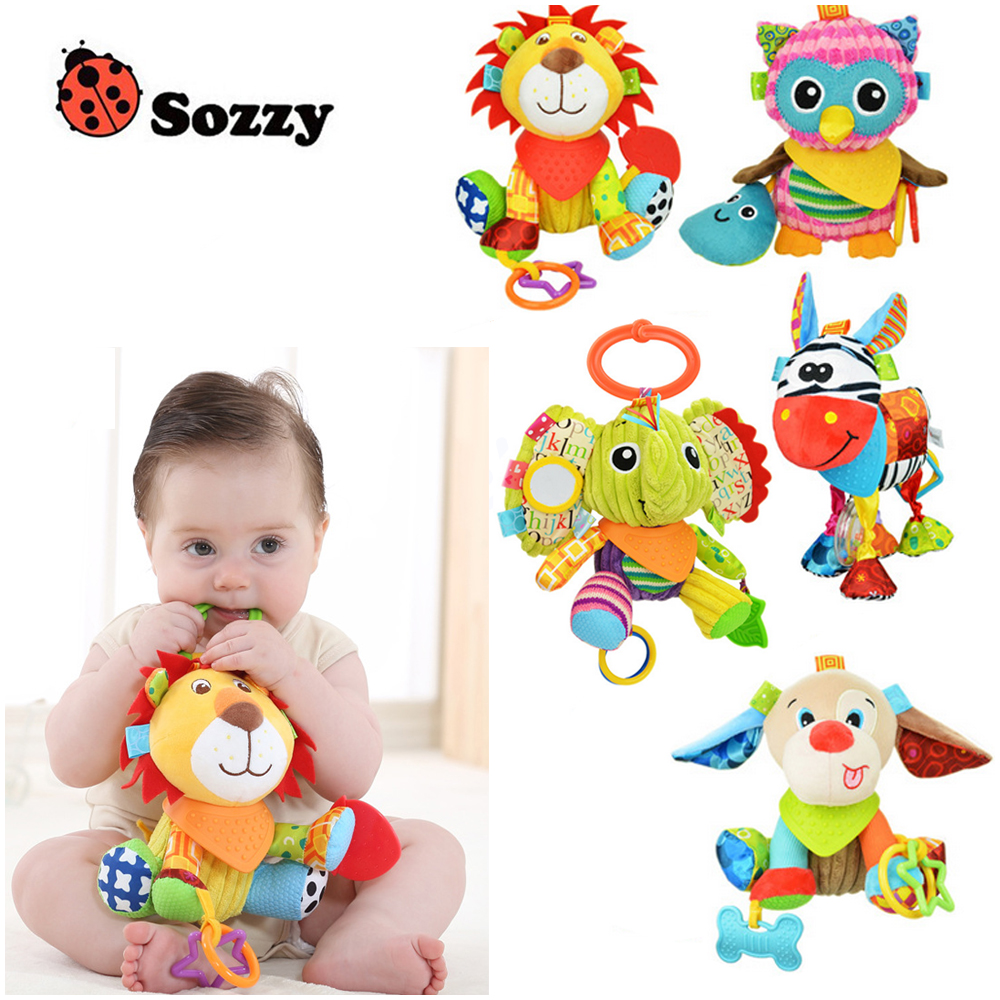 1pcs Sozzy Multifunctional Baby Toys Rattles Mobiles Soft Cotton Infant Pram Stroller Car Bed Rattles Hanging Animal Plush Toys 66cm baby toys bed hanging rattles toys white rattles bracket set infant mobile bed bell toy holder arm wind up music boxes toys