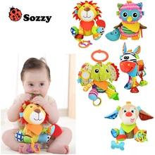 1pcs Sozzy Multifunctional Baby Toys Rattles Mobiles Soft Cotton Infant Pram Stroller Car Bed Hanging Animal Plush