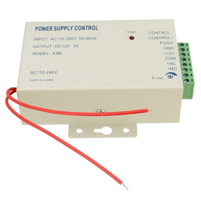1 stücke Stromversorgung Steuerschalter Tür Access Control System DC 12 V 3A/AC 110 ~ 240Val Arbeits temperatur-20 ~ + 65 grad