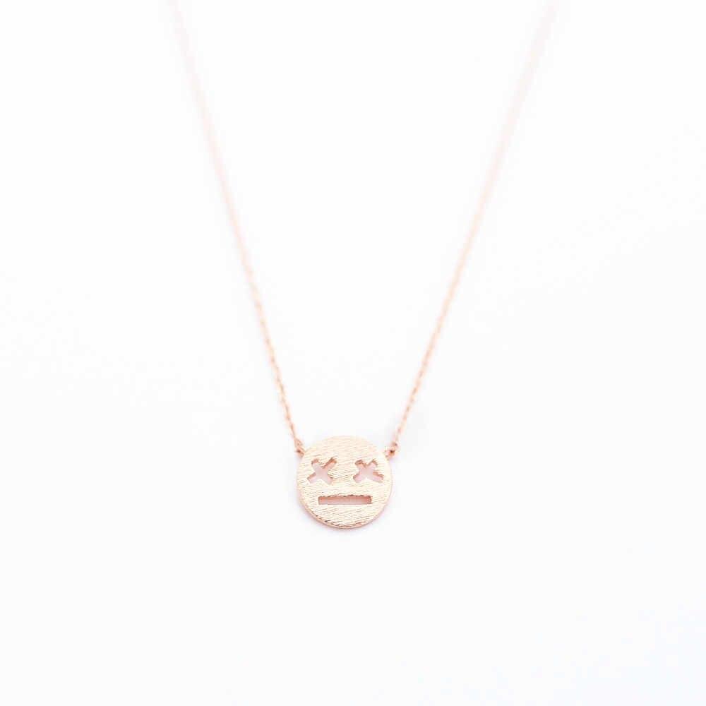 """Мультяшное выражение девушки кулон ожерелья """"X"""" глаза глазурованные выражения ожерелья игра над выражением кулон ожерелья"""