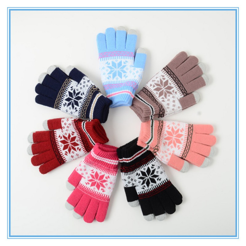 Unisex Winter Warm Knitted Skiing Gloves for Touchable Screen Gloves for Mobile Phone Pad Tablet k5