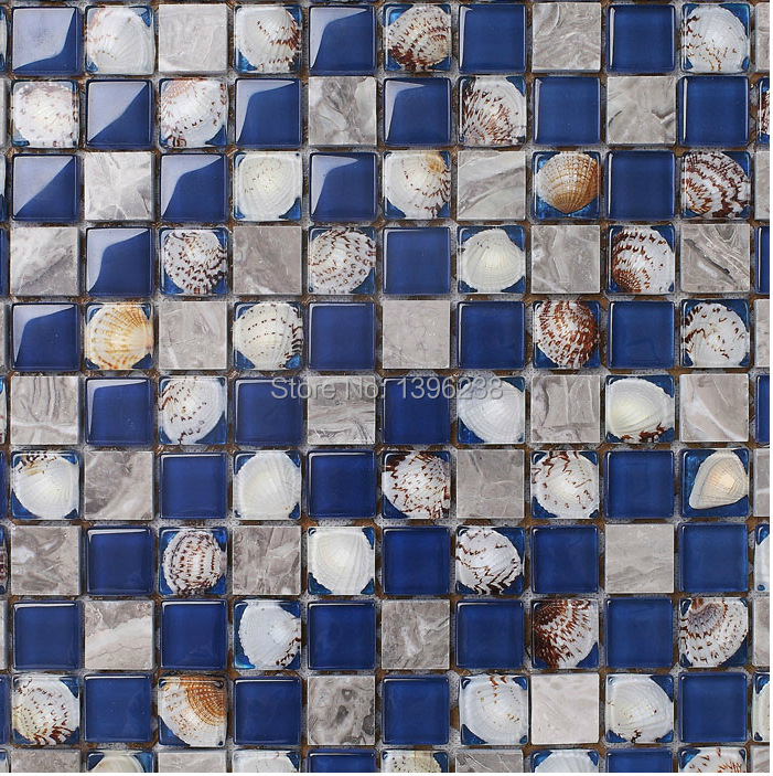 Ocean blue pearl shell mosaic tile gray natural marble kitchen backsplash sea shell tiles subway glass conch wall tiles,LSBK53 sea shell mosaic tiles seamless join natural pure white color kitchen wall mosaics tile hot sale free shipping