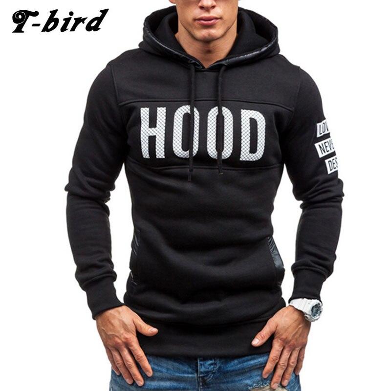 T-bird 2017 Hoodies Brand Men Chest Letts
