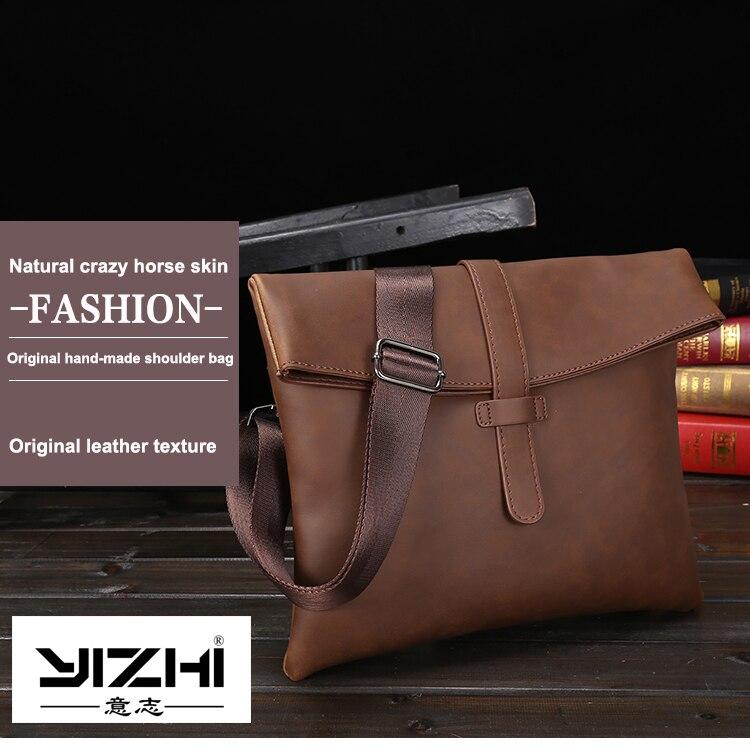 New Crazy Horse PU Leather Men Bag Small Coin Purse Shoulder Bag ... 0cf5f8e689e8c