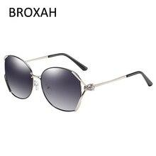 Broxah модные роскошные поляризованных солнцезащитных очков Для женщин Брендовые женские водительские очки Металлические оттенки UV400 солнцезащитные очки для женщин