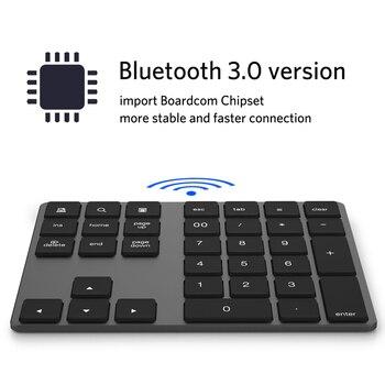 블루투스 수 (Pad 키보드 숫자 Mini 34 키 알루미늄 합금 대 한 iOS 안드로이드 JLRL88