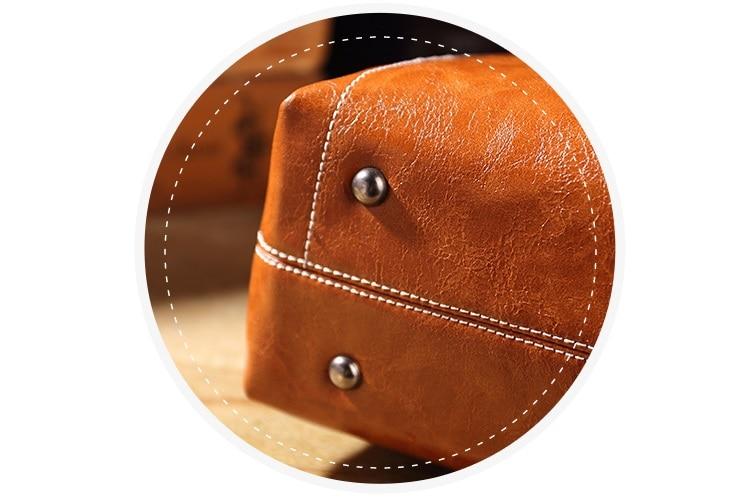 Genuíno de couro das mulheres bolsa tote