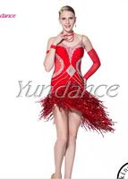 Hot Sale Red Salsa Latin Dance Dress For Ladies L 13317