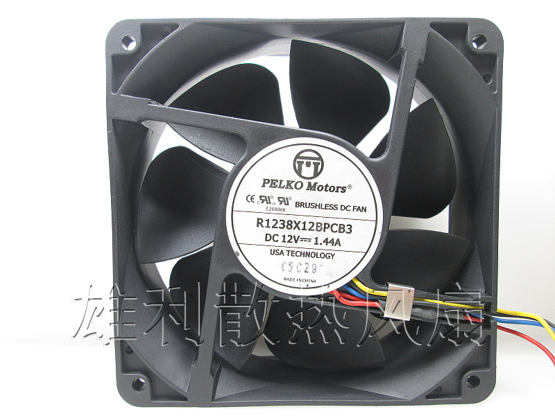 Free delivery.R1238X12BPCB3 12V 1.44A 12CM 12038 4-wire cooling fan