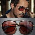 Tony Stark Iron Man Gafas de Sol Hombres de la Marca de Lujo Eyewear de Los Deportes Espejo Punk Gafas de Sol gafas de Sol Masculinas Vintage Steampunk Oculos