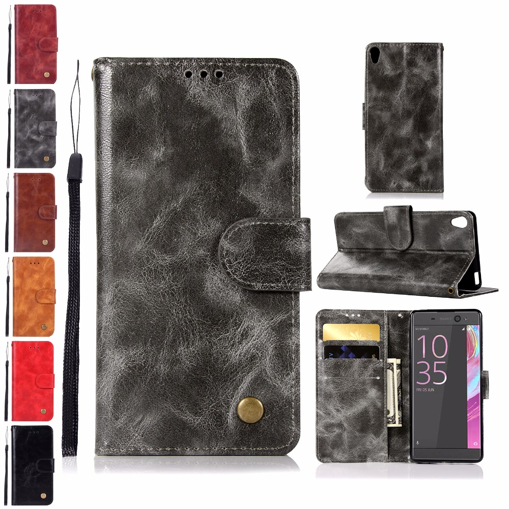Flip Phone Leather Cover for <font><b>Xperia</b></font> XA F 3111 3112 3113 3115 Covers <font><b>Cases</b></font> for <font><b>Sony</b></font> <font><b>Xperia</b></font> XA X A <font><b>F3111</b></font> F3113 F3115 F3112 Dual 5