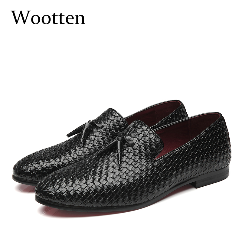 plus size mens shoes casual leather social luxury driving brand adult dress designer fashion loafers #7515 цена