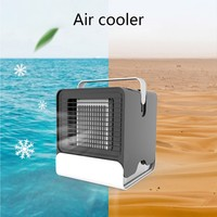 USB Mini Portable Air Conditioner Humidifier Purifier 7 Colors Light Desktop Air Cooling Fan Air Cooler Fan for Home Office