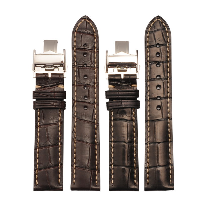 Original Quality 13 14 18 20 21 mm Crocodile Leather Straps For Longines For Watches Alligator Watch Band Strap Bracelet Belt