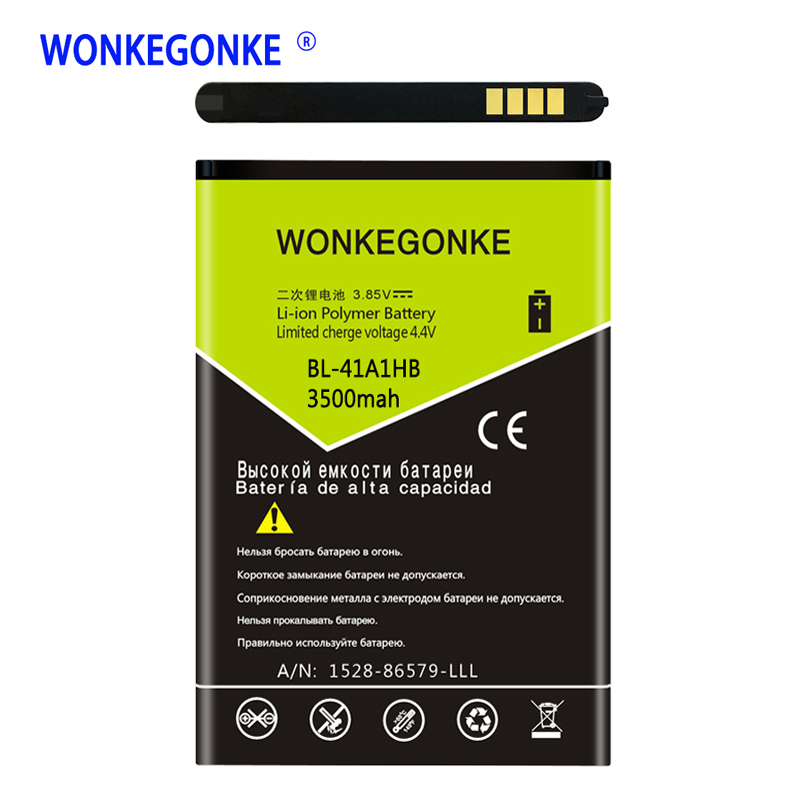 Wonkegonke BL-41A1HB بطارية ل lg x أسلوب تحية hd دفعة x نمط LS676 L56VL المحمول الهاتف المحمول بطاريات bateria