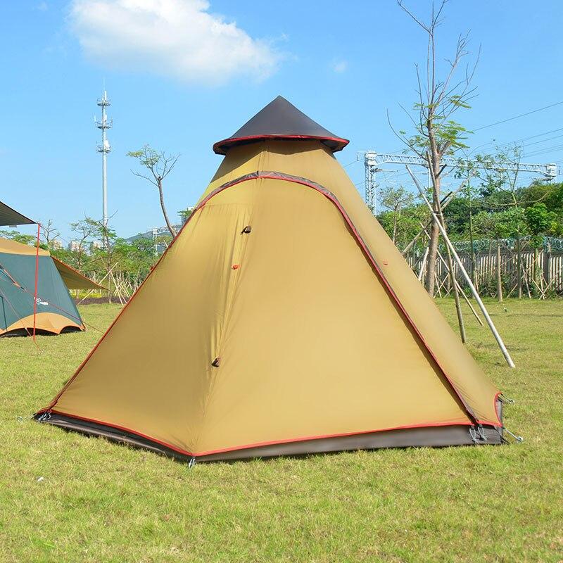 高品質超大 5 8persons 二重層インドモンゴル六角形キャンプファミリーテント大多人数屋外キャンプ  グループ上の スポーツ & エンターテイメント からの テント の中 3
