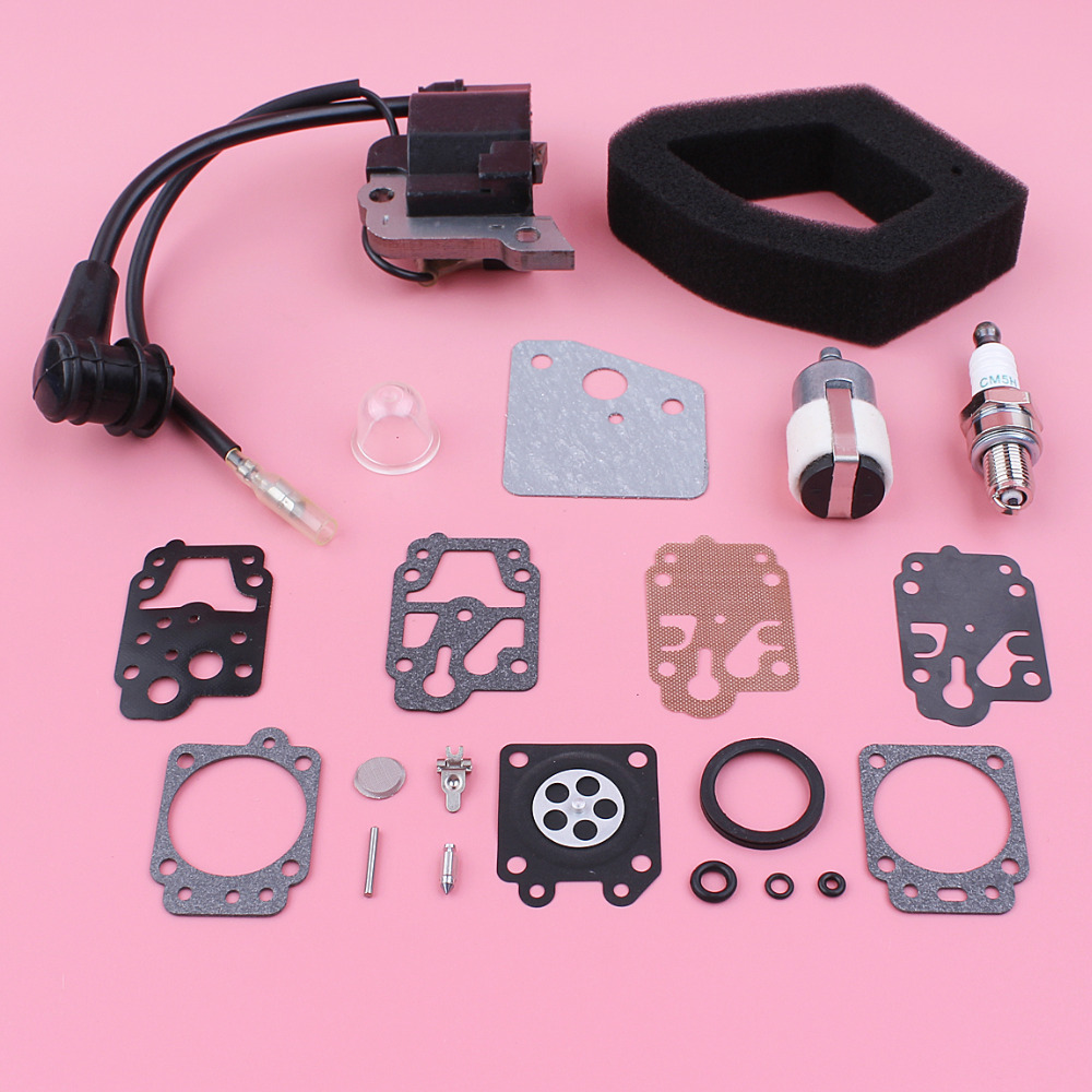 for honda gx35 engine part replace oem for 30500 z0z 013 k10 wyj package include 1 x ignition coil 1 x air filter 1 x fuel filter 1 x spark plug  [ 1000 x 1000 Pixel ]