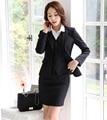 Nova Primavera Outono Mulheres de Negócio Trabalho Profissional Se Adapte 3 Peças Casacos + Colete + Saia Para Senhoras Blazers Roupas