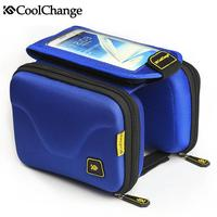 CoolChange Shockproof Waterproof Bicycle Cycling Front Frame Pannier Bag Toucscreen Front Tube Cell Phone Bag For