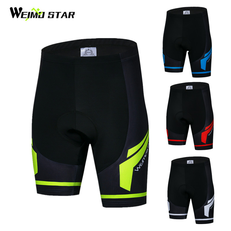 Weimostar Coolmax 4D Gel Padded Cycling Shorts Men Shockproof Downhill Bicycle Shorts Pro Team MTB Bike Shorts Bermuda Ciclismo
