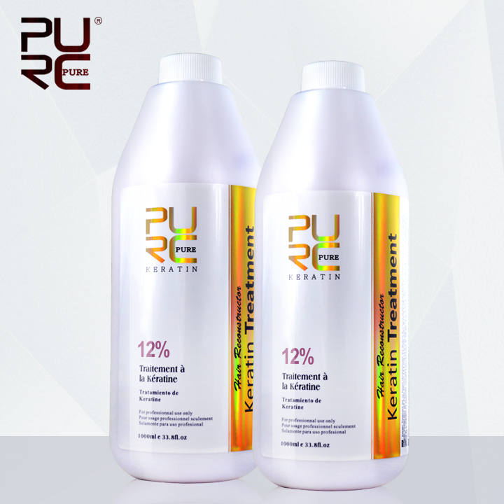 Hair treatment 12% formalin new arrived hair straightener brazilian keratin 1000ml x 2 bottles hair care products free shipping