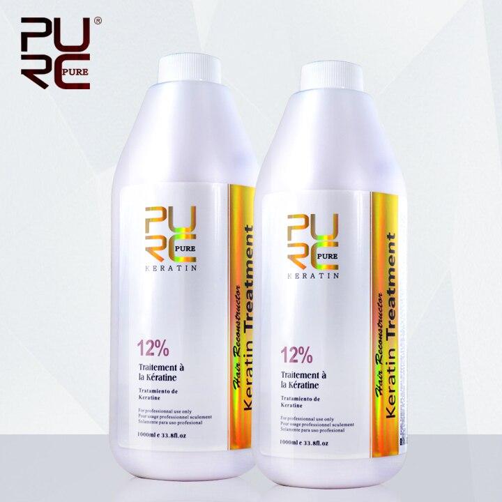 Cheveux traitement 12% formol nouveau arrivé défriser les cheveux brésilien kératine 1000 ml x 2 bouteilles produits de soins capillaires livraison gratuite