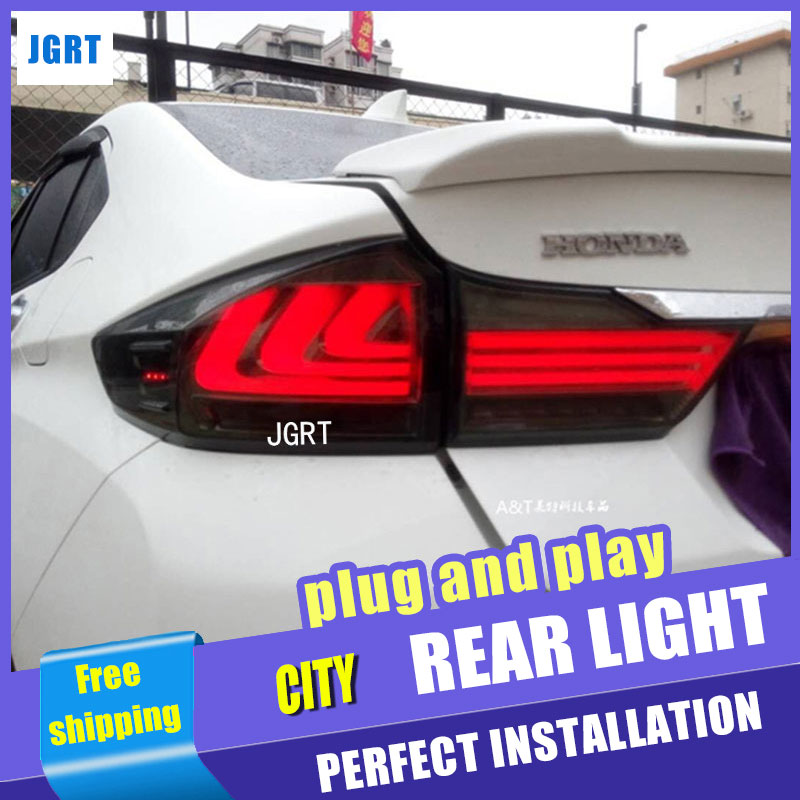 Car Styling Accessories for honda city rear Lights 2015 led TailLight honda city Rear Lamp DRL+Brake+Park+Signal lights car styling for honda city led tail lights 2015 tail light new city rear lamp drl brake park signal led lights
