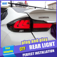 Car Styling Accessories for honda city rearLight assembly 2015 led TailLight honda city Rear Lamp DRL+Brake with hid kit 2pcs