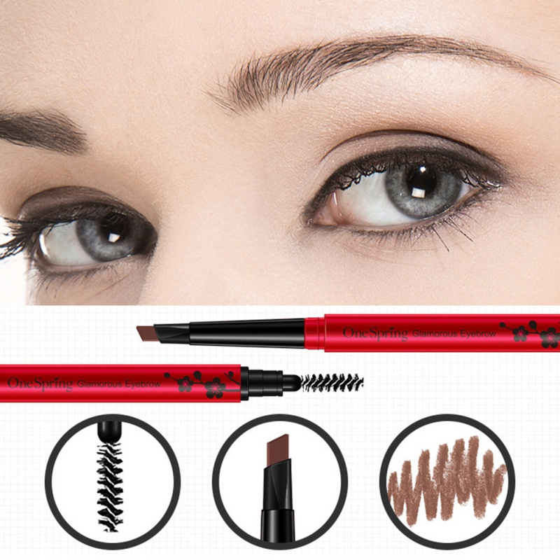 Double Head Eyebrow Pen Long-Lasting Waterproof No Dizzy Dyeing Eyebrow Pencil Cosmetic Easy To Apply