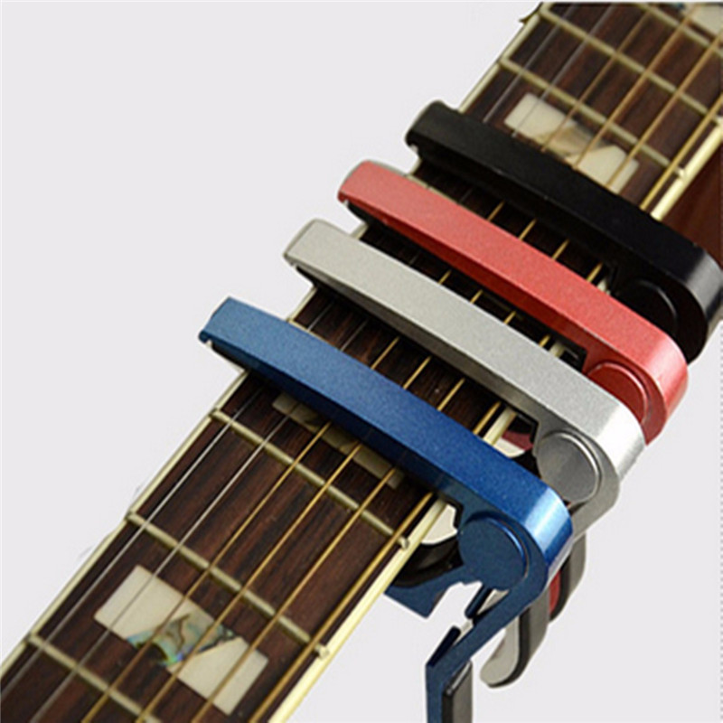 Portable Quick Change Guitarra Guitar Capo for Acoustic Electric Bass Guitar Musical Instruments Parts Accessories folk acoustic electric tune quick change trigger guitar capo for electric acoustic tune change guitar accessories