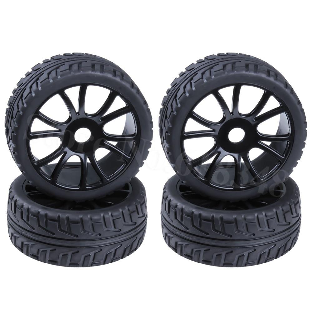 4pcs 1/8 Buggy Tires & Wheel Rims 17mm Hub Fit Off Road RC Car HPI Losi HSP BAZOOKA CAMPER