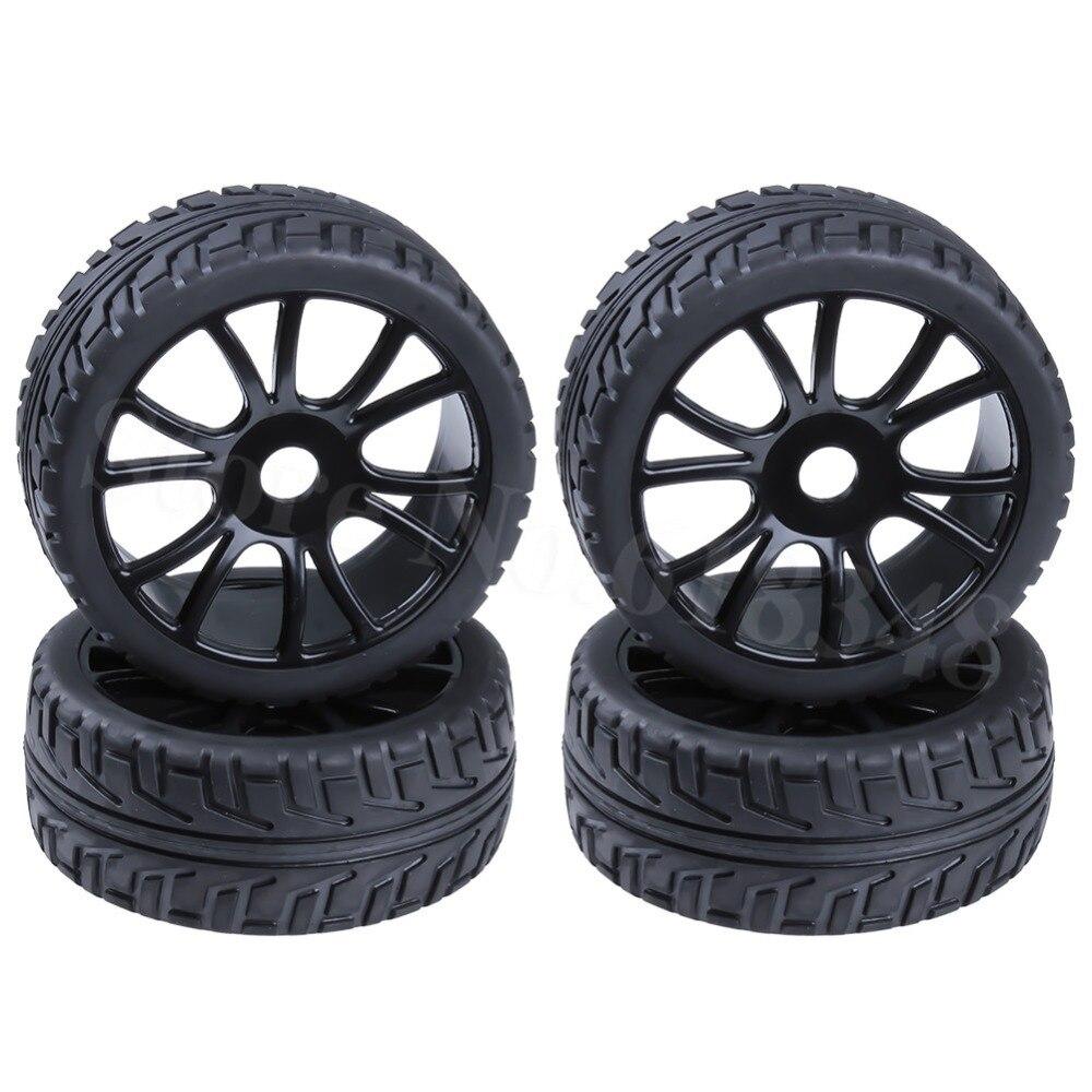 4pcs 1/8 Buggy Tires & Wheel Rims 17mm Hub Fit Off Road RC Car HPI Losi HSP BAZOOKA CAMPER(China)