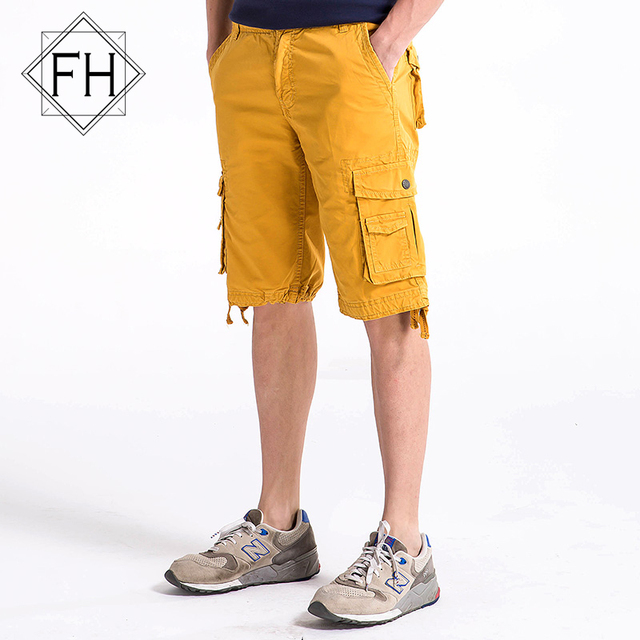 404d563824 FUHAO 12 Color Men Cargo Shorts Summer Man Short Multi Pocket Shorts For Men  Plus Size Beach Casual Shorts,3231
