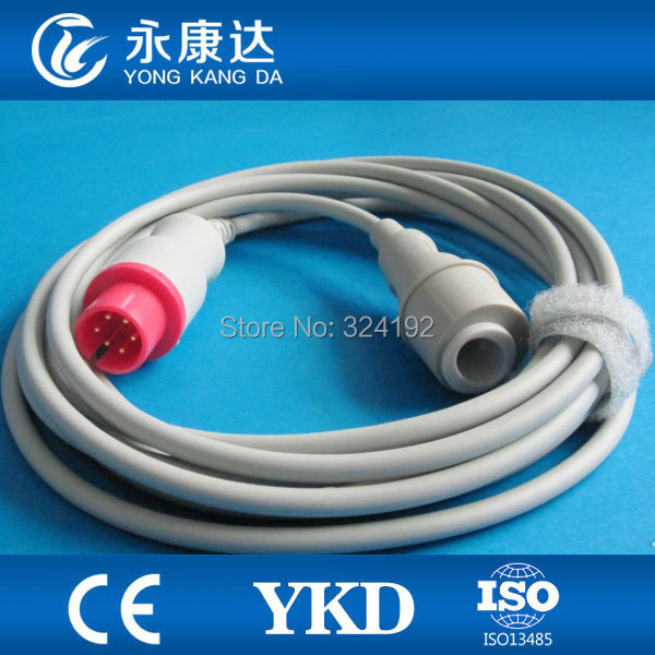 IBP adapter cable Compatible for Spacelabs Goldway 6PIN with Edward Transducer