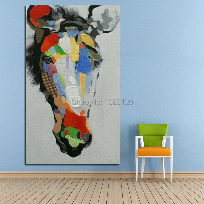 Handgemachte Moderne Bunte Pferd Abstrakten Dekor Tier Gemälde ...