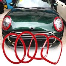 Coche faro cabeza de cola trasera lámparas ajuste anillo cubre decoración pegatinas para Mini Cooper una JCW F55 F56 coche-estilo de accesorios