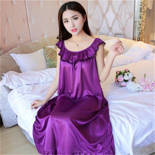 Hot Women Night Gowns Sleepwear Nightwear Long Sleeping Dress Luxury Nightgown Women Casual Night Dress Ladies Home Dressing Z79 22