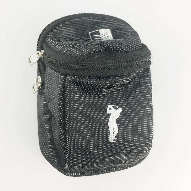 1pcs golf bag Mini Holder Waist Bag With Hook nylon can hold 6 golf balls Outdoor Sports Golfer's Gift pack Economic small