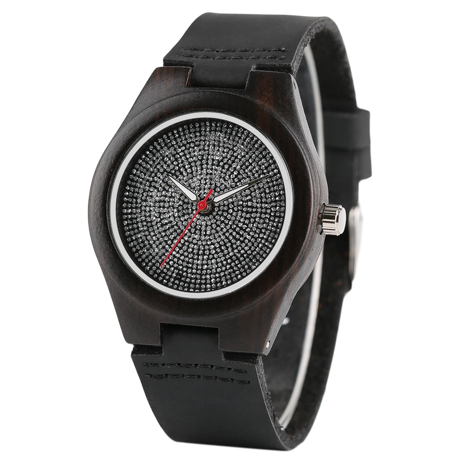Top Luxury Mens Watch Retro Ebony Wood Watch Unique Diamond Dial Sports Quartz Women Writstwatch Genuine Leather Valentine Gifts 2020 (15)