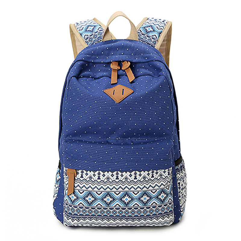 Fashion Canvas women backpack female Casual School bags Cool Girl ladies  school bags Pastoral tourism backpack ME785 eaccc442bca4c